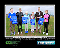 Balbriggan Golf Club Girls With Kate Wright CGI and Brendan Byrne Bank of Ireland.<br /> Junior golfers from across Leinster practicing their skills at the regional finals of the Dubai Duty Free Irish Open Skills Challenge supported by Bank of Ireland at the Heritage Golf Club, Killinard, Co Laois. 2/04/2016.<br /> Picture: Golffile | Fran Caffrey<br /> <br /> <br /> All photo usage must carry mandatory copyright credit (© Golffile | Fran Caffrey)