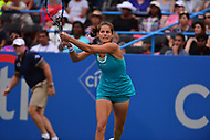 Washington, DC - August 6, 2017: Julia Goerges plays in the Citi Open championship match with  Ekaterina Makarova held at the Rock Creek Tennis Center in Washington, D.C., August 6, 2017.  (Photo by Don Baxter/Media Images International)