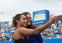 LAURA ROBSON (GBR), HEATHER WATSON (GBR)<br /> <br /> Aegon Championships 2014 - Queens Club -  London - UK -  ATP - ITF - 2014  - Great Britain -  15th June 2014. <br /> <br /> &copy; AMN IMAGES