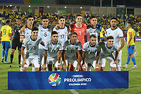 BUCARAMANGA - COLOMBIA, 09-02-2020: Argentina U-23 y Brasil U-23 en partido del cuadrangular final del CONMEBOL Preolímpico Colombia 2020 jugado en el estadio Alfonso Lopez en Bucaramanga, Colombia. / Argentina U-23 and Brazil U-23 in match of for the final quadrangular as part of CONMEBOL Pre-Olympic Tournament Colombia 2020 played at Alfonso Lopez stadium in Bucaramanga, Colombia. Photo: VizzorImage / Jaime Moreno / Cont