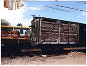 Partial view of an OR&amp;L boxcar at Hawaiian Railroad Society yards.<br /> Oahu Ry. &amp; Land Co.  Honolulu, Hi
