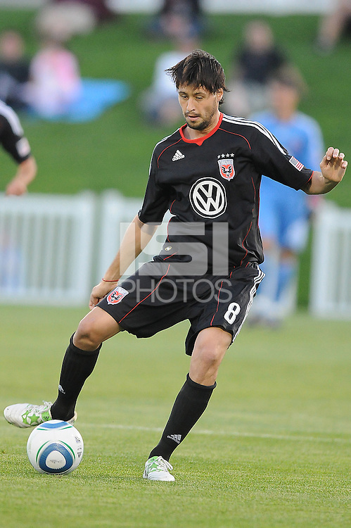 D.C. United midfielder Branko Boskovic (8) File photo RFK stadium 2011 season.