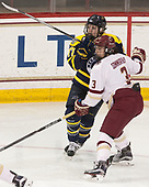 Jessica Bonfe (Merrimack - 17), Serena Sommerfield (BC - 3) - The number one seeded Boston College Eagles defeated the eight seeded Merrimack College Warriors 1-0 to sweep their Hockey East quarterfinal series on Friday, February 24, 2017, at Kelley Rink in Conte Forum in Chestnut Hill, Massachusetts.The number one seeded Boston College Eagles defeated the eight seeded Merrimack College Warriors 1-0 to sweep their Hockey East quarterfinal series on Friday, February 24, 2017, at Kelley Rink in Conte Forum in Chestnut Hill, Massachusetts.