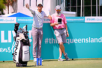 Johannes Veerman (USA) and caddy Nick Pugh on the 1st tee during the Preview of the Australian PGA Championship at  RACV Royal Pines Resort, Gold Coast, Queensland, Australia. 18/12/2019.<br /> Picture TJ Caffrey / Golffile.ie<br /> <br /> All photo usage must carry mandatory copyright credit (© Golffile | TJ Caffrey)