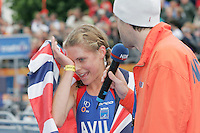 31 AUG 2007 - HAMBURG, GER - Hollie Avil wins the Junior Womens World Triathlon Championships. (PHOTO (C) NIGEL FARROW)