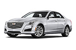 Stock pictures of low aggressive front three quarter view of a 2019 Cadillac CTS Luxury 4 Door Sedan
