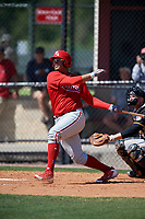 Philadelphia Phillies Jhailyn Ortiz (13) during a Minor League Spring Training game against the Pittsburgh Pirates on March 23, 2018 at the Carpenter Complex in Clearwater, Florida.  (Mike Janes/Four Seam Images)