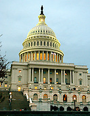 Washington, D.C. - October 20, 2005 -- The West Front of the United States Capitol at dusk in Washington, D.C. on October 20, 2005..Credit: Ron Sachs / CNP