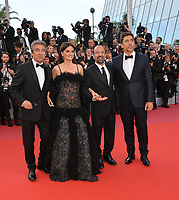 "CANNES, FRANCE. May 08, 2018: Ricardo Darin, Penelope Cruz, Asghar Farhadi & Javier Bardem at the gala screening for ""Everybody Knows"" at the 71st Festival de Cannes"
