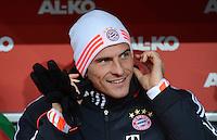 FUSSBALL   1. BUNDESLIGA  SAISON 2012/2013   16. Spieltag FC Augsburg - FC Bayern Muenchen         08.12.2012 Mario Gomez (FC Bayern Muenchen)