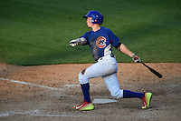 Bryce Denton (27) of Ravenwood High School in Brentwood, Tennessee playing for the Chicago Cubs scout team during the East Coast Pro Showcase on July 31, 2014 at NBT Bank Stadium in Syracuse, New York.  (Mike Janes/Four Seam Images)