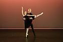 Elmhurst Ballet Company,the graduate company from Elmhurst Ballet School, perform in the dress rehearsal of 'Synergy' at the Lilian Baylis Studio, Sadler's Wells. The piece shown is: L'Heure Sans Regret. The dancers are: Jennifer Beattie, Joshua Dart, Ruben Flynn-Kann, William Mitchell, Grace Owen, Olivia Parham.