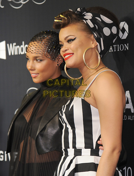 NEW YORK, NY - NOVEMBER 05:  Alicia Keys and Andra Day attends the 2015 'Keep A Child Alive' Black Ball at Hammerstein Ballroom on November 5, 2015 in New York City.<br /> CAP/MPI/STV<br /> &copy;STV/MPI/Capital Pictures