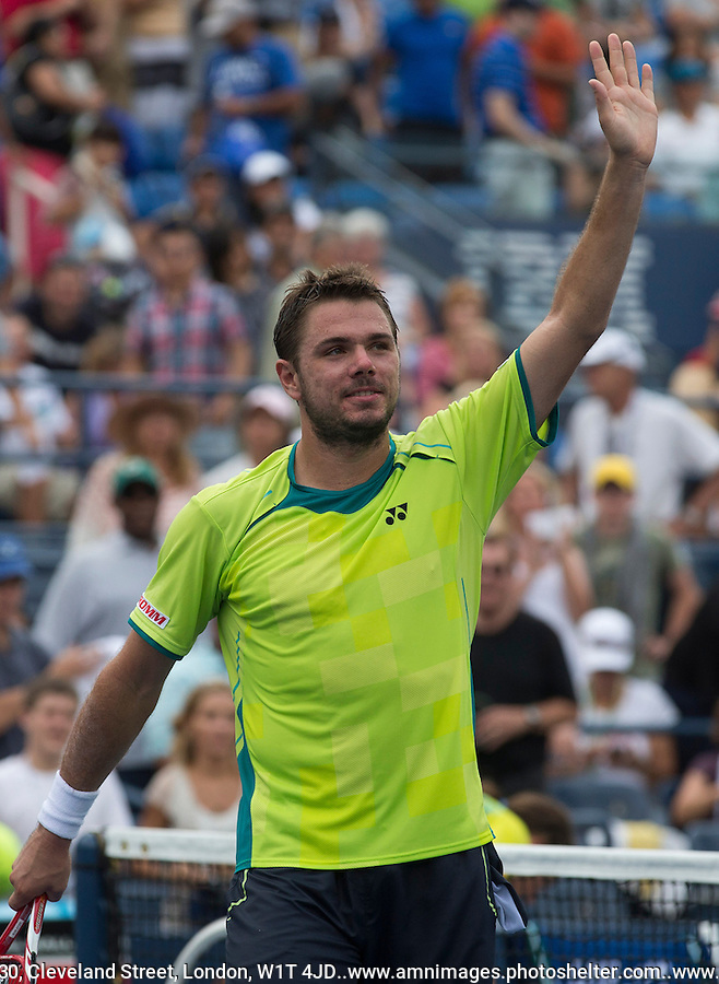 Stanislas Wawrinka..Tennis - US Open - Grand Slam -  New York 2012 -  Flushing Meadows - New York - USA - Sunday 2nd September  2012. .© AMN Images, 30, Cleveland Street, London, W1T 4JD.Tel - +44 20 7907 6387.mfrey@advantagemedianet.com.www.amnimages.photoshelter.com.www.advantagemedianet.com.www.tennishead.net