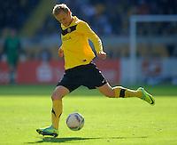 Fussball, 2. Bundesliga, Saison 2011/12, SG Dynamo Dresden - Alemannia Aachen, Sonntag (16.10.11), gluecksgas Stadion, Dresden. Dresdens Muhamed Subasic am Ball.