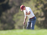 Stanford, Ca - Thursday, May 18, 2012: Stanford Golf plays in the NCAA Regionals held at the Stanford Golf Course. Patrick Grimes