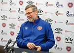 Craig Levein, Hearts press conference