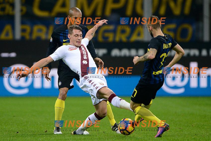 Andrea Belotti Torino, Marcelo Brozovic Inter<br /> Milano 26-10-2016 Stadio Giuseppe Meazza - Football Calcio Serie A Inter - Torino. Foto Giuseppe Celeste / Insidefoto