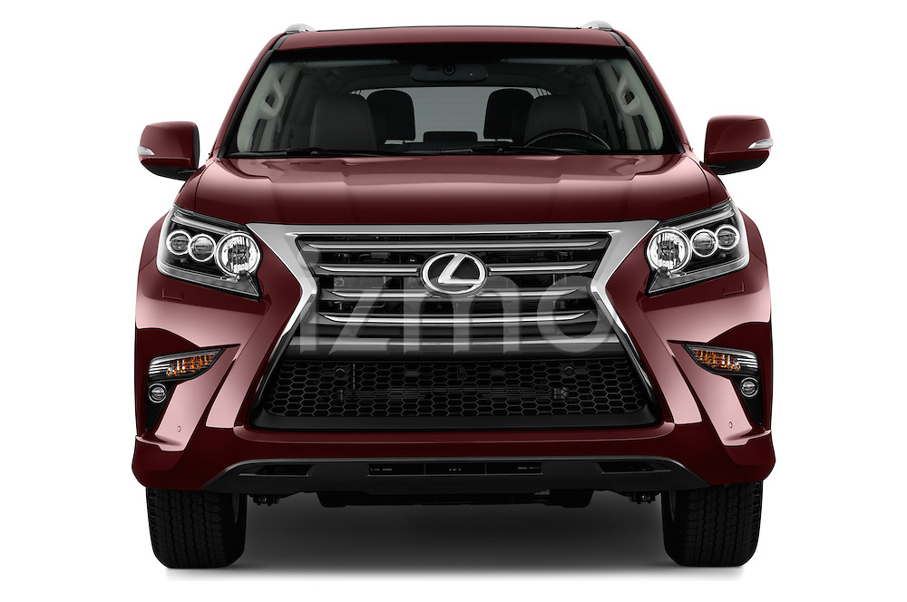 Car photography straight front view of a 2017 Lexus GX 460 5 Door SUV Front View
