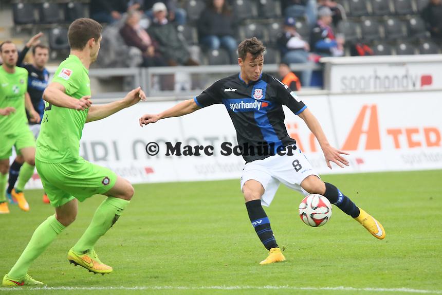 Mario Engels (FSV) gegen Stipe Vucur (Aue) - FSV Frankfurt vs. FC Erzgebirge Aue, Frankfurter Volksbank Stadion