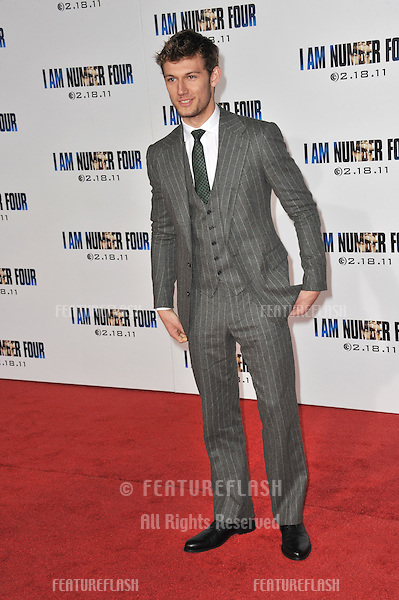 "British actor Alex Pettyfer at the world premiere of his new movie ""I Am Number Four"" at the Mann Village Theatre, Westwood..February 9, 2011  Los Angeles, CA.Picture: Paul Smith / Featureflash"