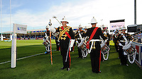 The Band of the Royal Marines entertain the crowds before Match 20 of the Rugby World Cup 2015 between Tonga and Namibia - 29/09/2015 - Sandy Park, Exeter<br /> Mandatory Credit: Rob Munro/Stewart Communications
