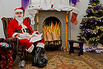 Santa's grotto, made by those involved in the Youthreach programme, at the Christmas Party..Picture: Shane Maguire / www.newsfile.ie.