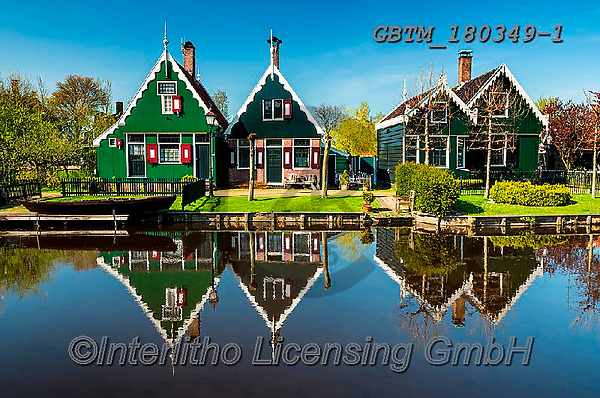 Tom Mackie, LANDSCAPES, LANDSCHAFTEN, PAISAJES, photos,+Dutch, Europa, Europe, European, Holland, Netherlands, Tom Mackie, Zaanse Schans, blue, building, buildings, canal, canals, c+olor, colorful, colour, colourful, green, heritage, historic, horizontal, horizontals, house, houses, landscape, landscapes,+museum, reflecting, reflection, reflections, scenery, scenic, tourist attraction, traditional, water, water's edge, waterside+,Dutch, Europa, Europe, European, Holland, Netherlands, Tom Mackie, Zaanse Schans, blue, building, buildings, canal, canals,+,GBTM180349-1,#l#, EVERYDAY