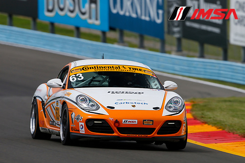IMSA Continental Tire SportsCar Challenge<br /> Continental Tire 120 at The Glen<br /> Watkins Glen International, Watkins Glen, NY USA<br /> Thursday 29 June 2017<br /> 63, Porsche, Porsche Cayman, ST, David Askew, Aaron Povoledo<br /> World Copyright: Jake Galstad/LAT Images