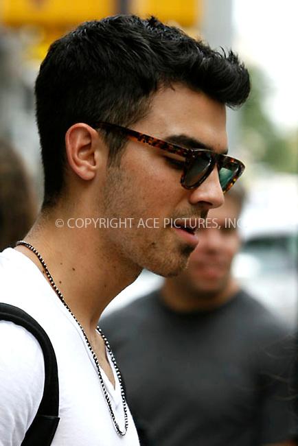 WWW.ACEPIXS.COM . . . . . .August 18, 2011...New York City...Joe Jonas leaving his hotel on August 18, 2011 in New York City.....Please byline: CURTIS MEANS - ACEPIXS.COM.. . . . . . ..Ace Pictures, Inc: ..tel: (212) 243 8787 or (646) 769 0430..e-mail: info@acepixs.com..web: http://www.acepixs.com .