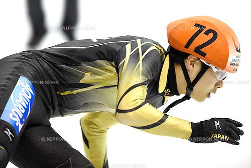 Minto Sekai (JPN), <br /> FEBRUARY 11, 2015 - Short Track : <br /> 27th Winter Universiade Granada 2015 <br /> Short Track Men's 1500m semi Final <br /> at Universiade Igloo, Granada, Spain. <br /> (Photo by AFLO SPORT) [1220]