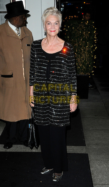 SHEILA HANCOCK .At the Inspirational Women Of The Year Awards, Marriott Hotel, Grosvenor Square, London, England, UK, November 23rd 2010..full length black silver diamante sparkly cardigan jacket shoes trousers top dress tunic over long sleeve .CAP/CAN.©Can Nguyen/Capital Pictures.