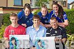 SHOW: Barry John Walsh, David Moran and Barry John Keane helping Clionadhna Hayes, Erica Griffin and Shannon Daly to launch the under 14 Fund raising Fashion Show for Fun at Kerins O'Rahillys GAA Club on Wednesday evening to send the Ladies under 14 Kerins O'Rahillys Football team to Derry to play in the Feile Football Final in July..................................... ....