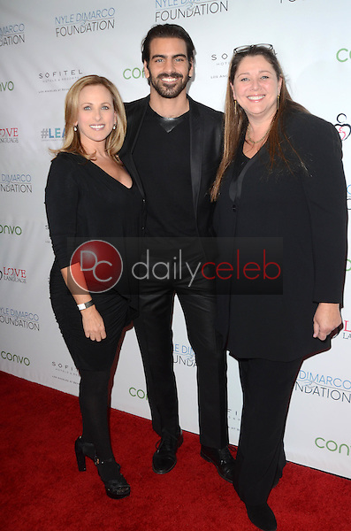 Nyle DiMarco, Marlee Matlin, Camryn Manheim<br /> at the Nyle DiMarco Foundation Love &amp; Language Kickoff Campaign 2016, Sofitel Hotel, Beverly Hills, CA 11-29-16<br /> David Edwards/DailyCeleb.com 818-249-4998