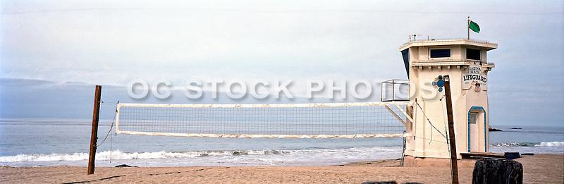 Panorama Of Main Beach With View Of Catalina In Laguna Beach California