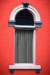 Window, Elston Bank building, Crawfordsville, Indiana