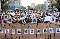 Mexico City, DF May 10, 2014. People take part of a march demanding the government to search and locate their missing children. During the third National March for Dignity.  Miguel Angel Pantaleon/VIEWpress