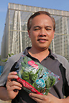 Jack Ng the founder and director of Sky Greens Singapore<br /> <br /> Sky Greens is a pioneering adventure in vertical farming, one of the first of its kind, founded by Jack Ng.<br /> <br /> As written in their website:<br /> <br /> World's first low carbon hydraulic water-driven, tropical vegetable urban vertical farm, using green urban solutions to achieve enhanced green sustainable production of safe, fresh and delicious vegetables, using minimal land, water and energy resource<br /> <br /> Locally grown vegetables in Singapore currently constitute only 7% of local consumption. Demand for local vegetables exceeds supply. Singaporeans trust the quality, freshness and safety of local vegetables, grown using good agricultural practice under the supervision of the Agri-Food & Veterinary Authority of Singapore.<br /> <br /> The A-Go-Gro vertical systems which are 9m in height (3 storeys), housed in protected-outdoor green houses, allow tropical leafy vegetables to be grown all year round at significantly higher yields (than traditional growing methods) that are safe, of high quality, fresh and delicious.<br /> <br /> Green urban technologies are used on the farm, which is easy and environmentally friendly to operate and maintain. Patented low carbon hydraulic water-driven green technology. Soil-mix, fertilizers and water are controlled. Modular A-frame structures for easy installation & maintenance. Outdoor green houses, which use abundant sunlight in the tropics throughout the year. Green technology is used to achieve the 3R ( reduce, reuse and recycle)