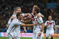 RIO DE JANEIRO, RJ, 13.07.2014 - COPA DO MUNDO - ALEMANHA - ARGENTINA - Gotze da Alemanha comemora seu gol durante partida entre Alemanha e Argentina jogo valido pela final da Copa do Mundo no Estadio do Maracana no Rio de Janeiro neste domingo, 13. (Foto: William Volcov / Brazil Photo Press).