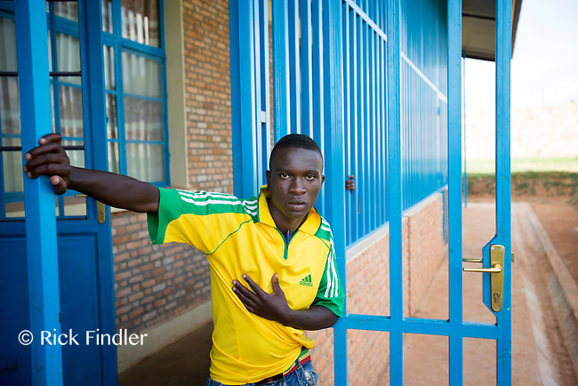 BURUNDI, Ruyigi: 10 June 2015 Ruyigi Re-education Centre Feature.<br /> See accompanying article for general information. <br /> Pictured: An inmate poses for a picture outside of the sleeping quarters. <br /> Rick Findler / Story Picture Agency
