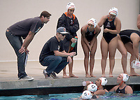 Mar 11, 2015; Claremont, CA, USA; Occidental College Tigers coach John Bonafide (left) and assistant coach Jack Stabenfeldt (second from left) during the game against the Pomona-Pitzer Sagehens at Pomona-Pitzer. Photo by Kirby Lee