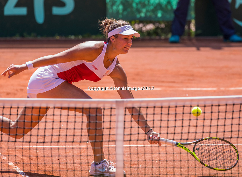 The Hague, Netherlands, 11 June, 2017, Tennis, Play-Offs Competition, Bernarda Pera, Egeria Alta<br /> Photo: Henk Koster/tennisimages.com