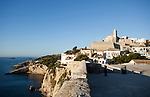 Blick von Baluard de Santa Llucia auf Ibiza-Stadt, Eivissa, Ibiza