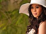 Vietnamese Bride 06 - Vietnamese bride in a white hat, Hanoi, Viet Nam