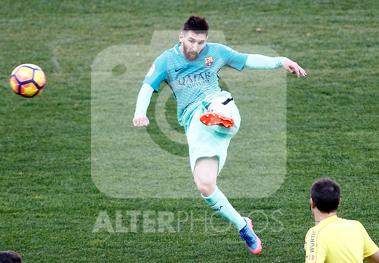 FC Barcelona's Leo Messi during La Liga match. February 26,2017. (ALTERPHOTOS/Acero)