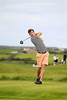 Alex Gleeson (Castle) on the 14th tee during Round 3 of The South of Ireland in Lahinch Golf Club on Monday 28th July 2014.<br /> Picture:  Thos Caffrey / www.golffile.ie