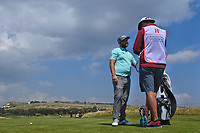 Andy Sullivan (ENG) on the 8th tee during Round 2 of the Rocco Forte Sicilian Open 2018 on Friday 11th May 2018.<br /> Picture:  Thos Caffrey / www.golffile.ie<br /> <br /> All photo usage must carry mandatory copyright credit (&copy; Golffile | Thos Caffrey)
