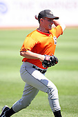 June 11th 2008:  Pitcher Cole McCurry of the Delmarva Shorebirds, Class-A affiliate of the Baltimore Orioles, during a game at Classic Park in Eastlake, OH.  Photo by:  Mike Janes/Four Seam Images