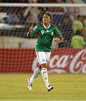 Maribel Dominguez of Mexico during the semifinal match of CONCACAF Women's World Cup Qualifying tournament held at Estadio Quintana Roo in Cancun, Mexico. Mexico 2, USA 1.