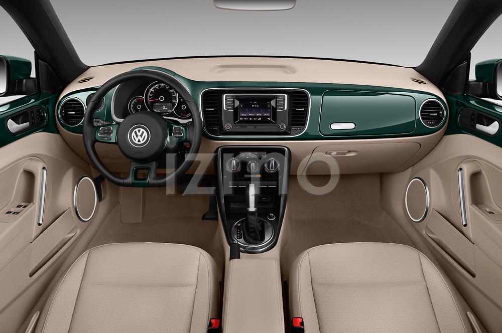 Stock photo of straight dashboard view of 2017 Volkswagen Beetle S 2 Door Convertible Dashboard